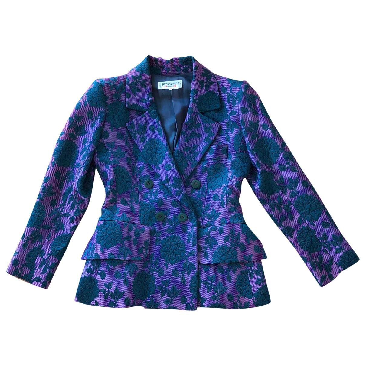 Yves Saint Laurent - Veste   pour femme en soie - multicolore