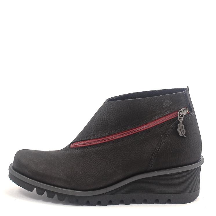Loints of Holland, 33051 Lightning Wijdte Women's Slip-on Shoes, black-red Größe 38
