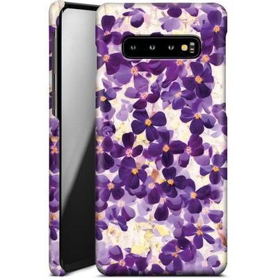 Samsung Galaxy S10 Plus Smartphone Huelle - Violet Bloom von Amy Sia