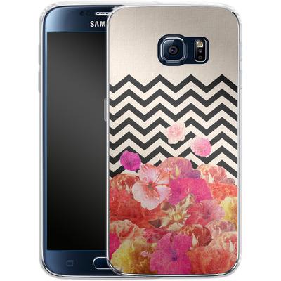 Samsung Galaxy S6 Silikon Handyhuelle - Chevron Flora II von Bianca Green