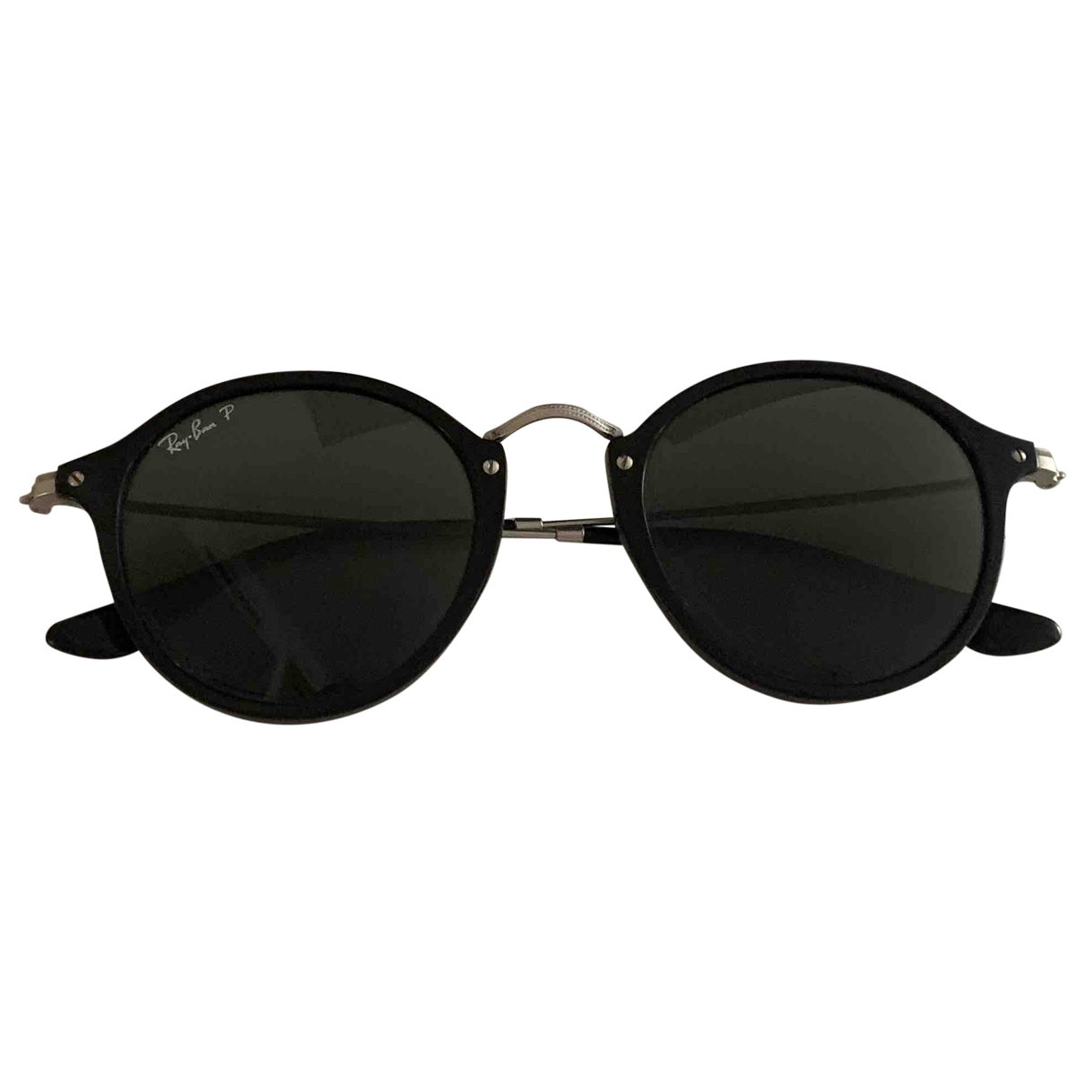 Ray-ban Round Black Metal Sunglasses for Men \N