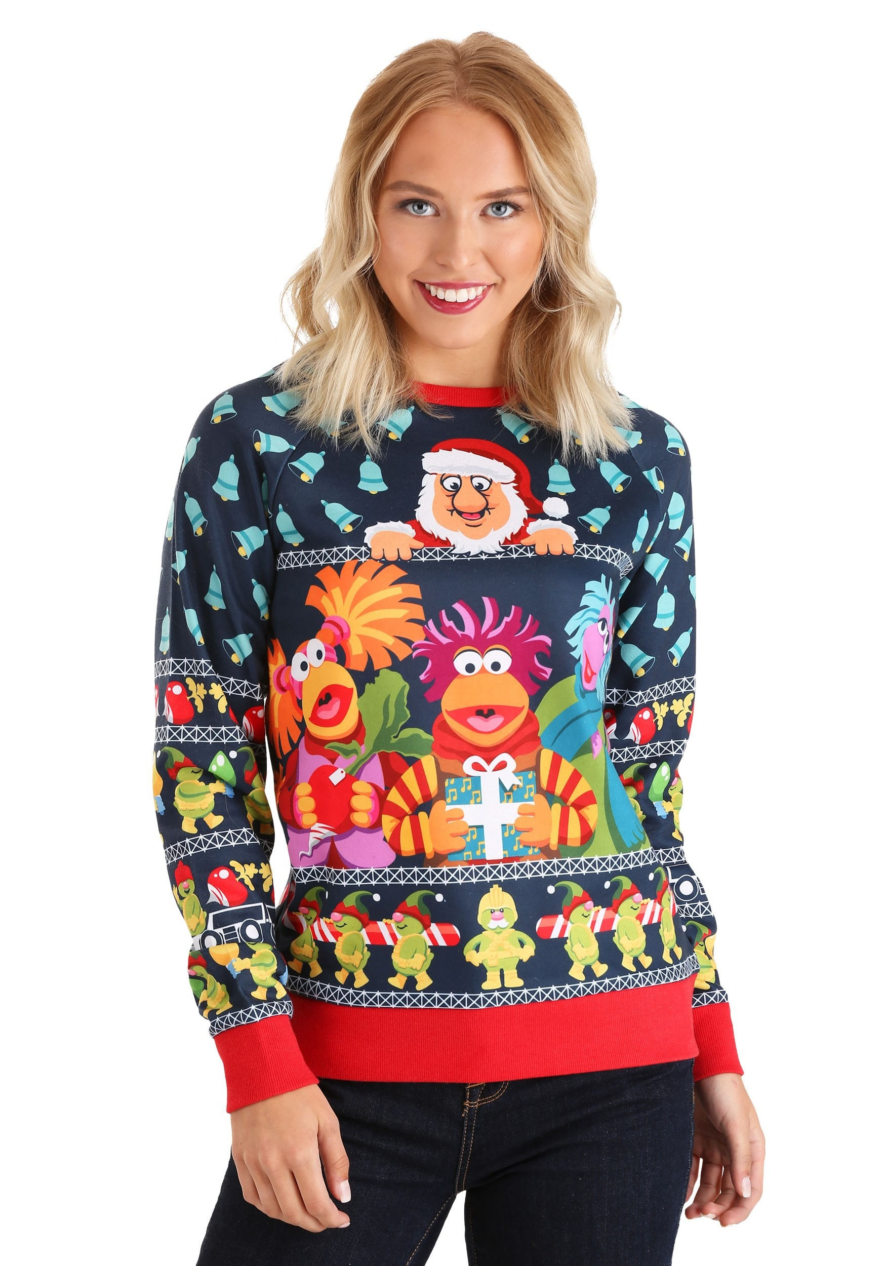 Fraggle Rock Sublimated Ugly Christmas Sweater for Adults