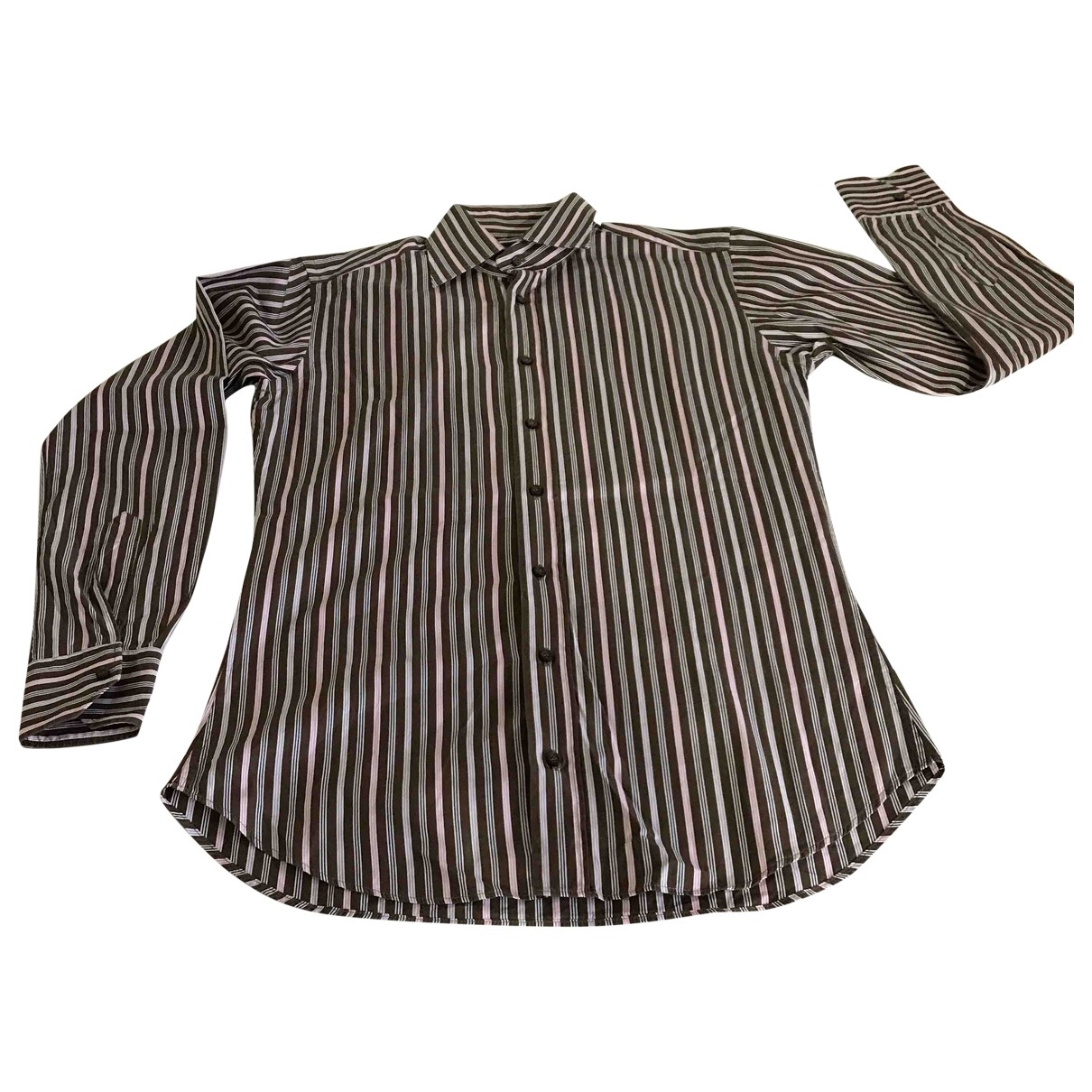 Etro \N Brown Cotton Shirts for Men 39 EU (tour de cou / collar)