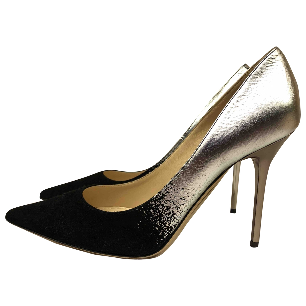 Jimmy Choo Anouk Pumps in  Silber Leder