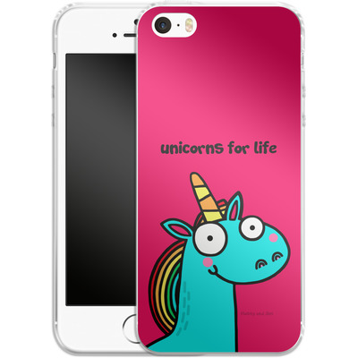 Apple iPhone SE Silikon Handyhuelle - Unicorns for Life von Flossy and Jim