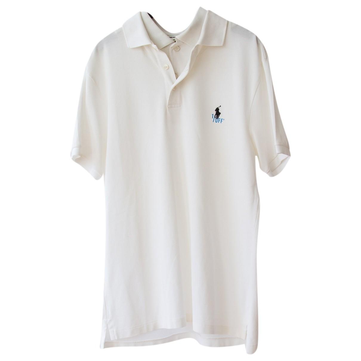 1/0ff - Polos   pour homme en coton - blanc