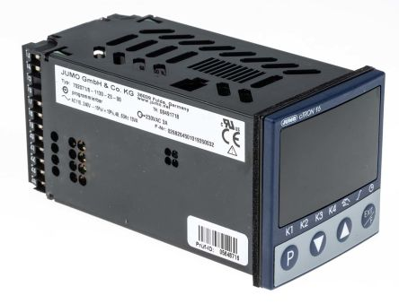 Jumo cTRON PID Temperature Controller, 48 x 48 (1/16 DIN)mm 1 (Analogue) Input, 4 Output Logic, Relay, 110 → 240