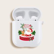 Airpods Schutzhuelle mit Weihnachtsmann Muster