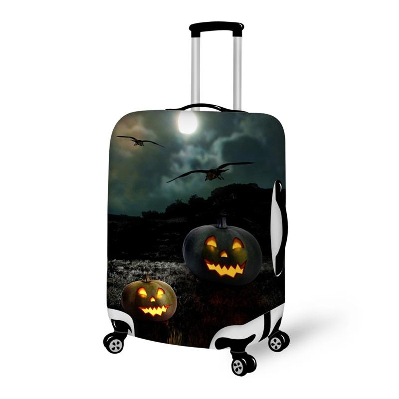 Halloween Pumpkin Dark Night Waterproof Suitcase Protector for 19 20 21