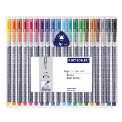 Staedtler@ Triplus@ Fineliner 334 Marker Pens Triangular Fineliner - 20 Colours 103226