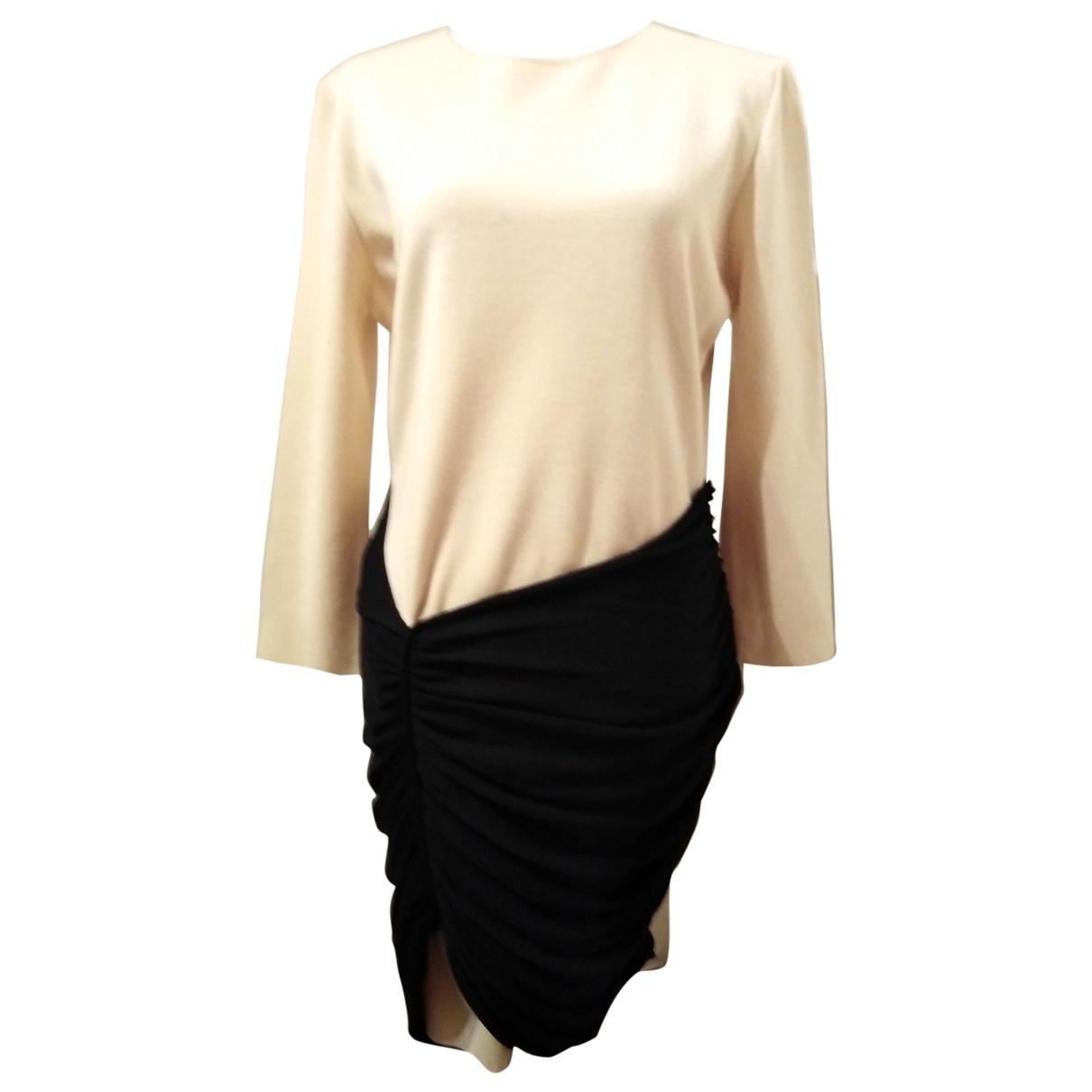 Giambattista Valli \N Beige Wool dress for Women 46 IT