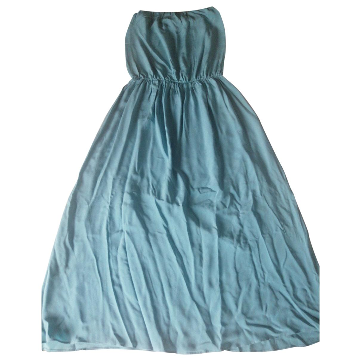 Erika Cavallini \N Turquoise Silk dress for Women 42 IT