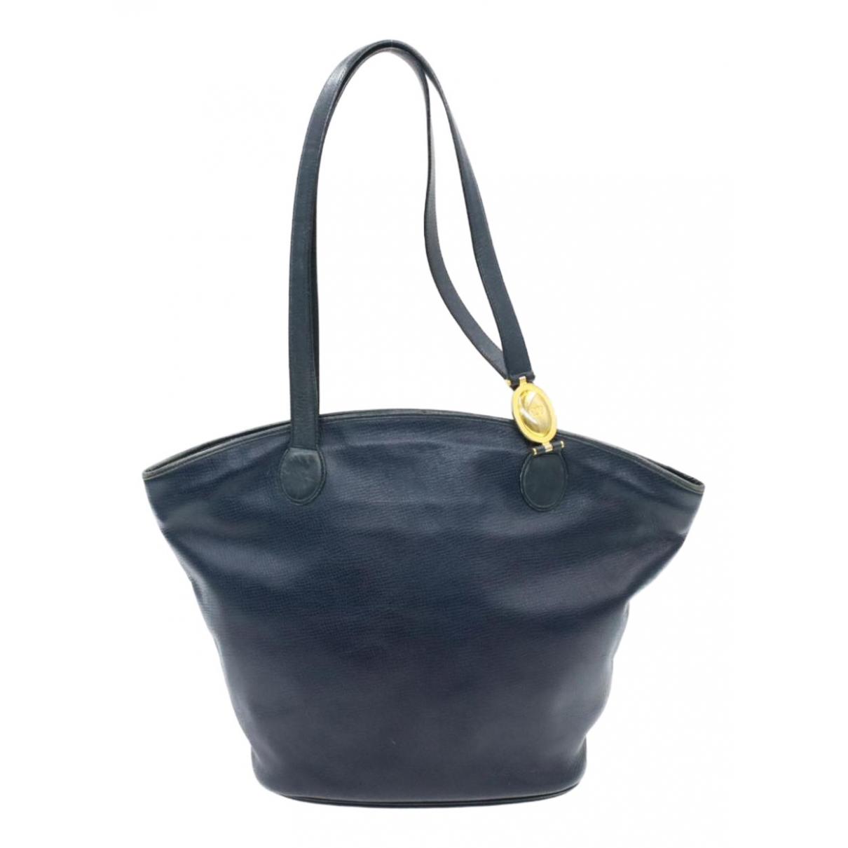 Dior - Sac a main   pour femme en cuir - marine