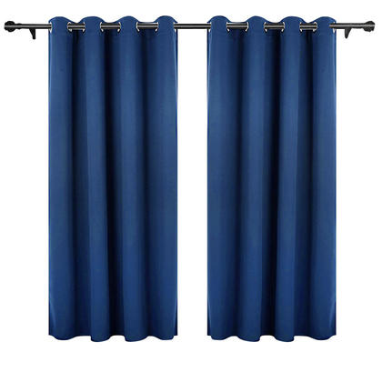 Solid Thermal Insulated Blackout Curtain, Navy Blue 1 Panel 52 * 63 Inch - LIVINGbasics™