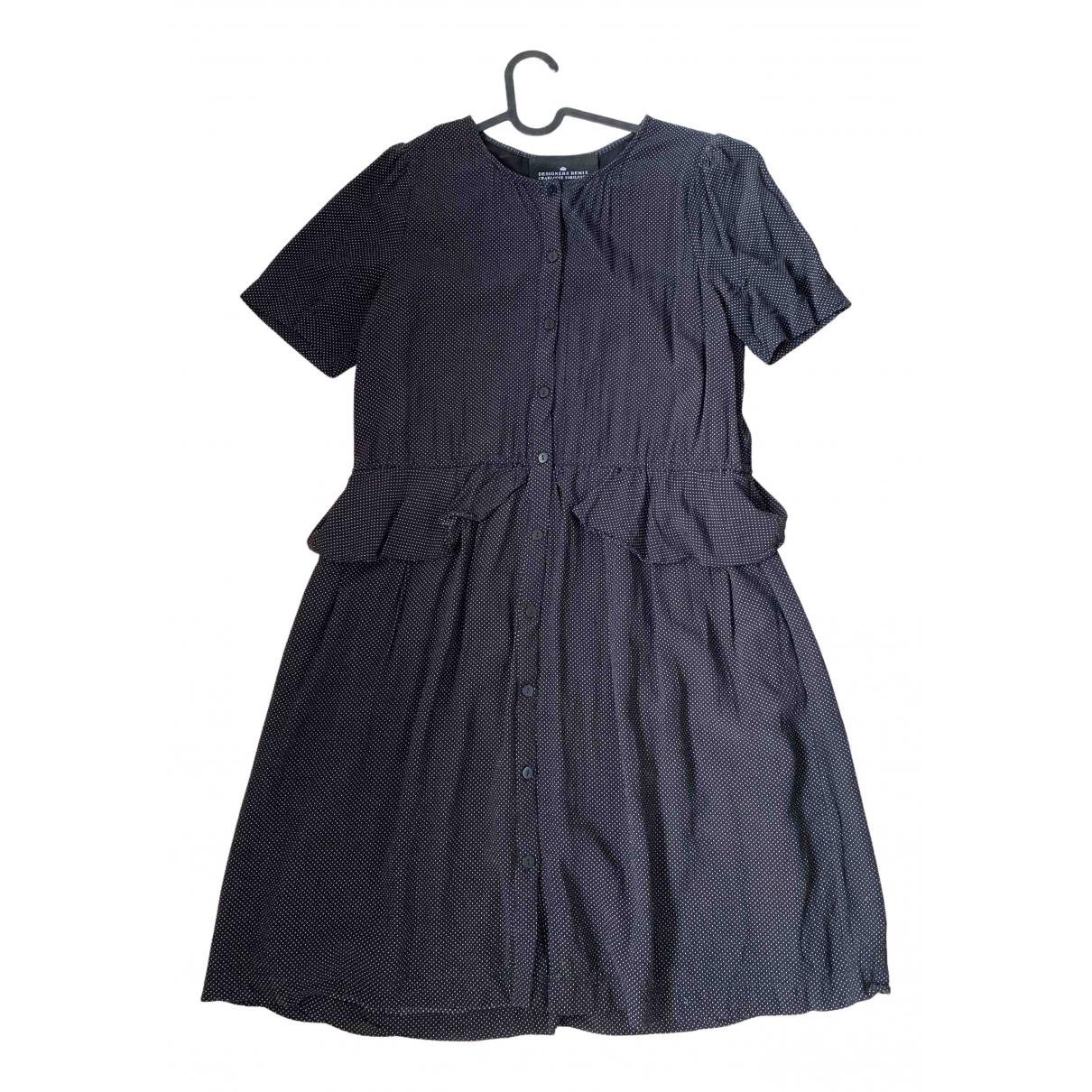 Designers Remix \N Kleid in  Schwarz Viskose