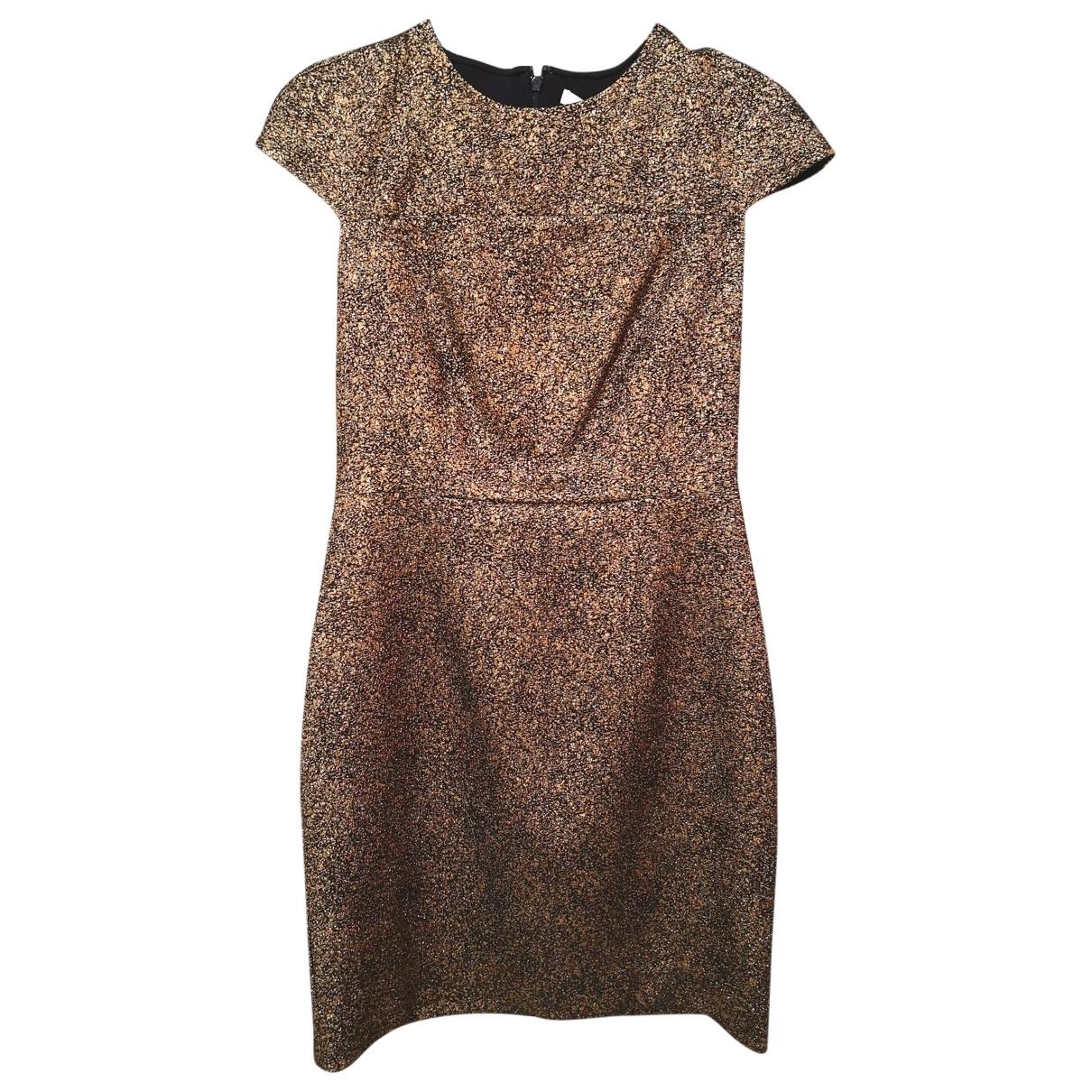 Diane Von Furstenberg \N Kleid in  Gold Mit Pailletten
