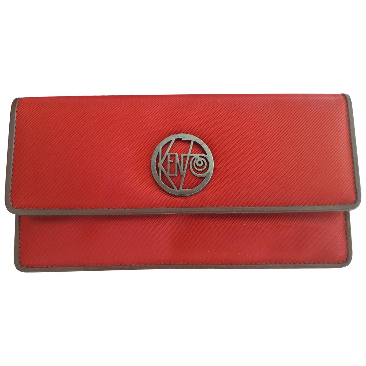 Kenzo \N Portemonnaie in  Rot Leinen