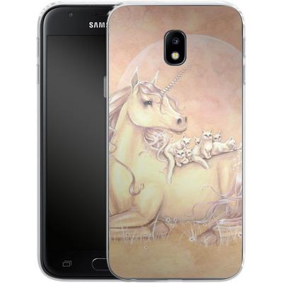 Samsung Galaxy J3 (2017) Silikon Handyhuelle - Purrfect Friends von Selina Fenech