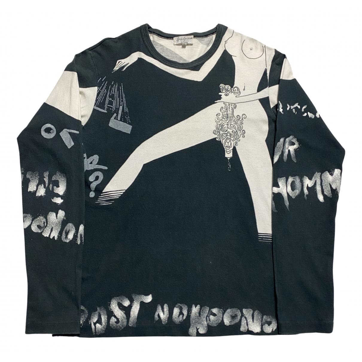 Yohji Yamamoto - Tee shirts   pour homme en coton - marine