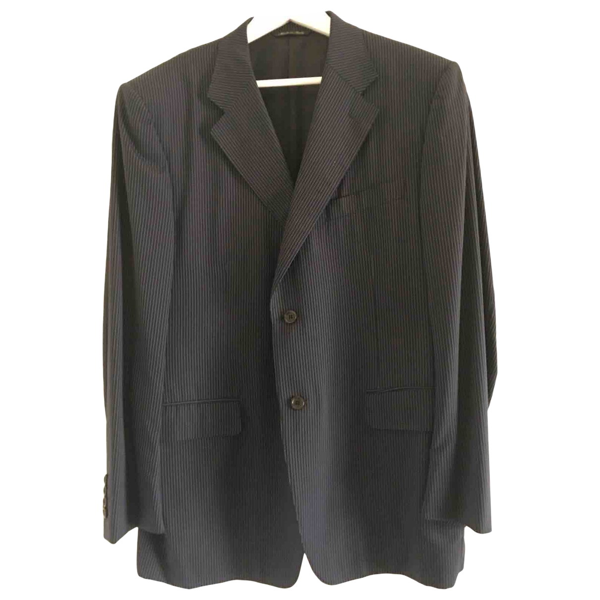 Non Signé / Unsigned \N Blue Cotton jacket for Women 50-52 IT