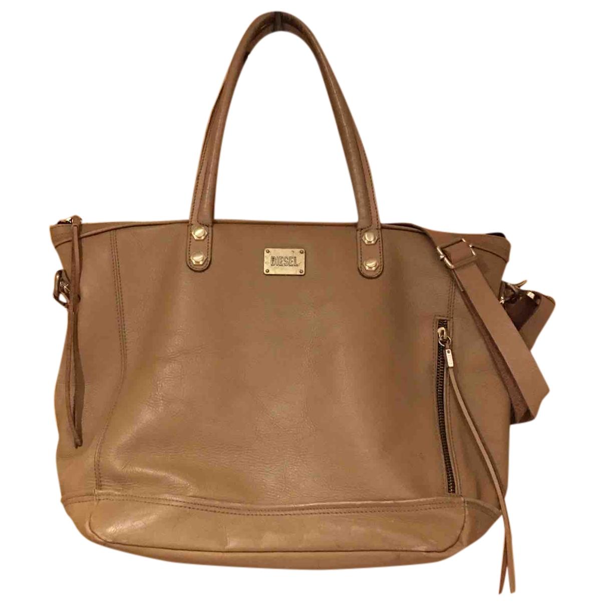 Diesel \N Camel Leather handbag for Women \N