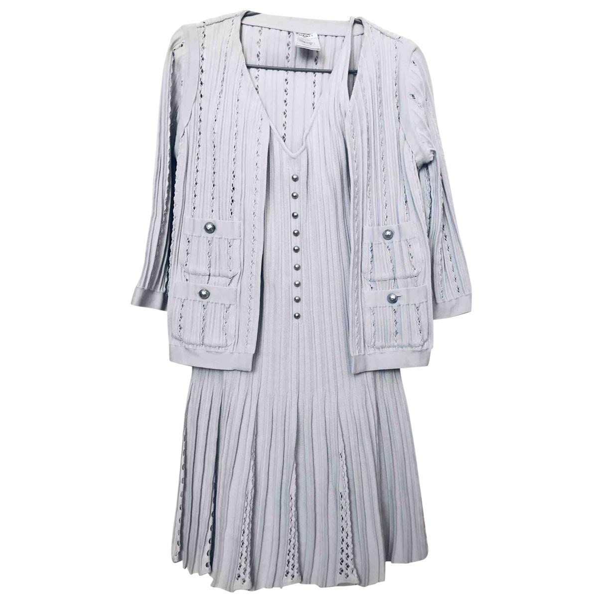 Chanel \N Blue Cotton dress for Women 38 IT