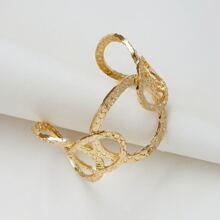 Men Textured Cuff Bracelet