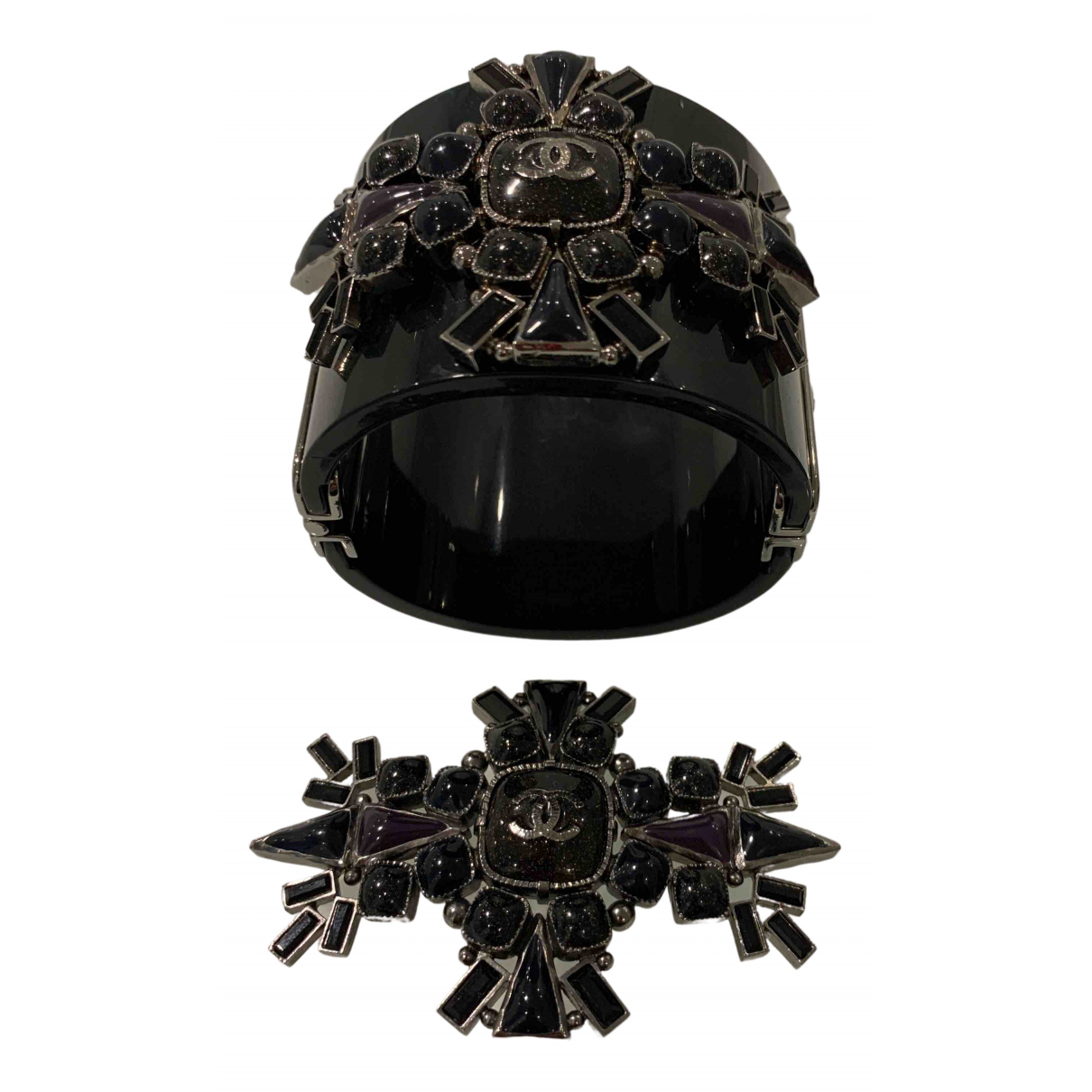 Chanel \N Schmuck-set in  Schwarz Metall