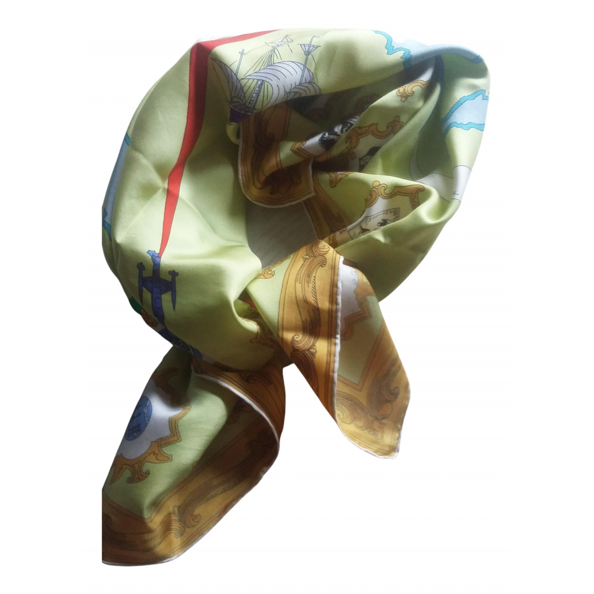Emilio Pucci N Green Silk scarf for Women N