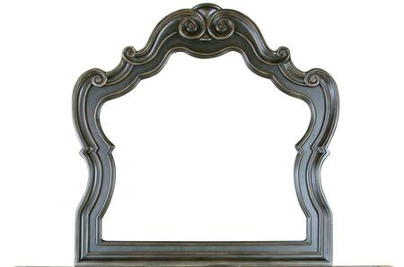 Bordeaux Collection BR400-M Mirror with Camelback Mirror and Wood Trim in Espresso Oak