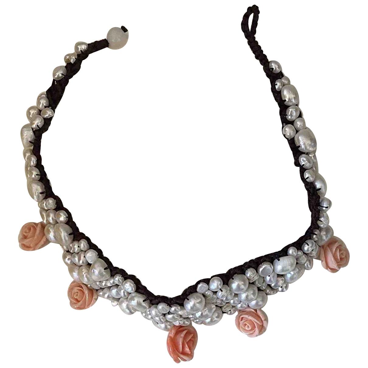 - Collier Motifs Floraux pour femme en perles - multicolore