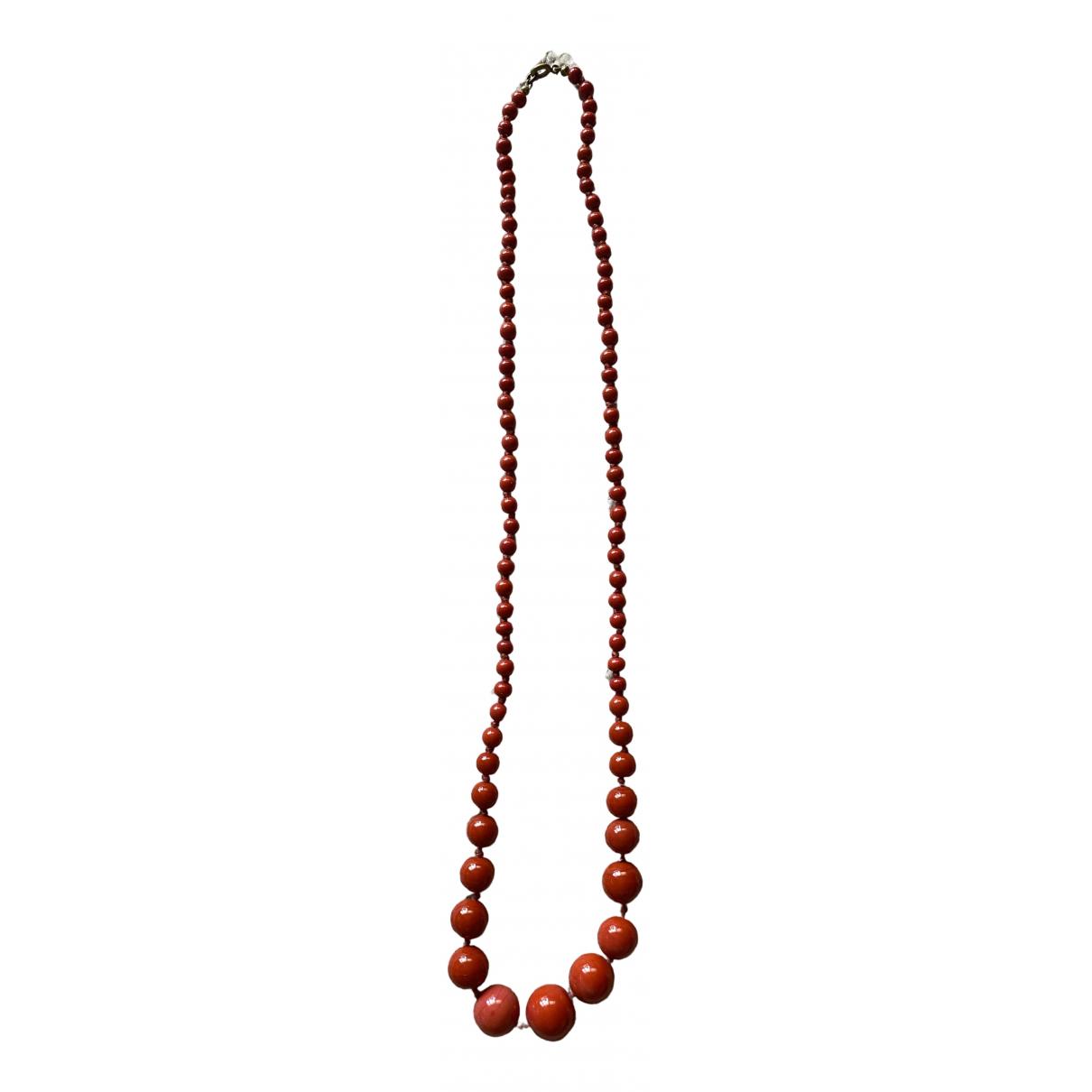 - Sautoir Corail pour femme en perles - rouge