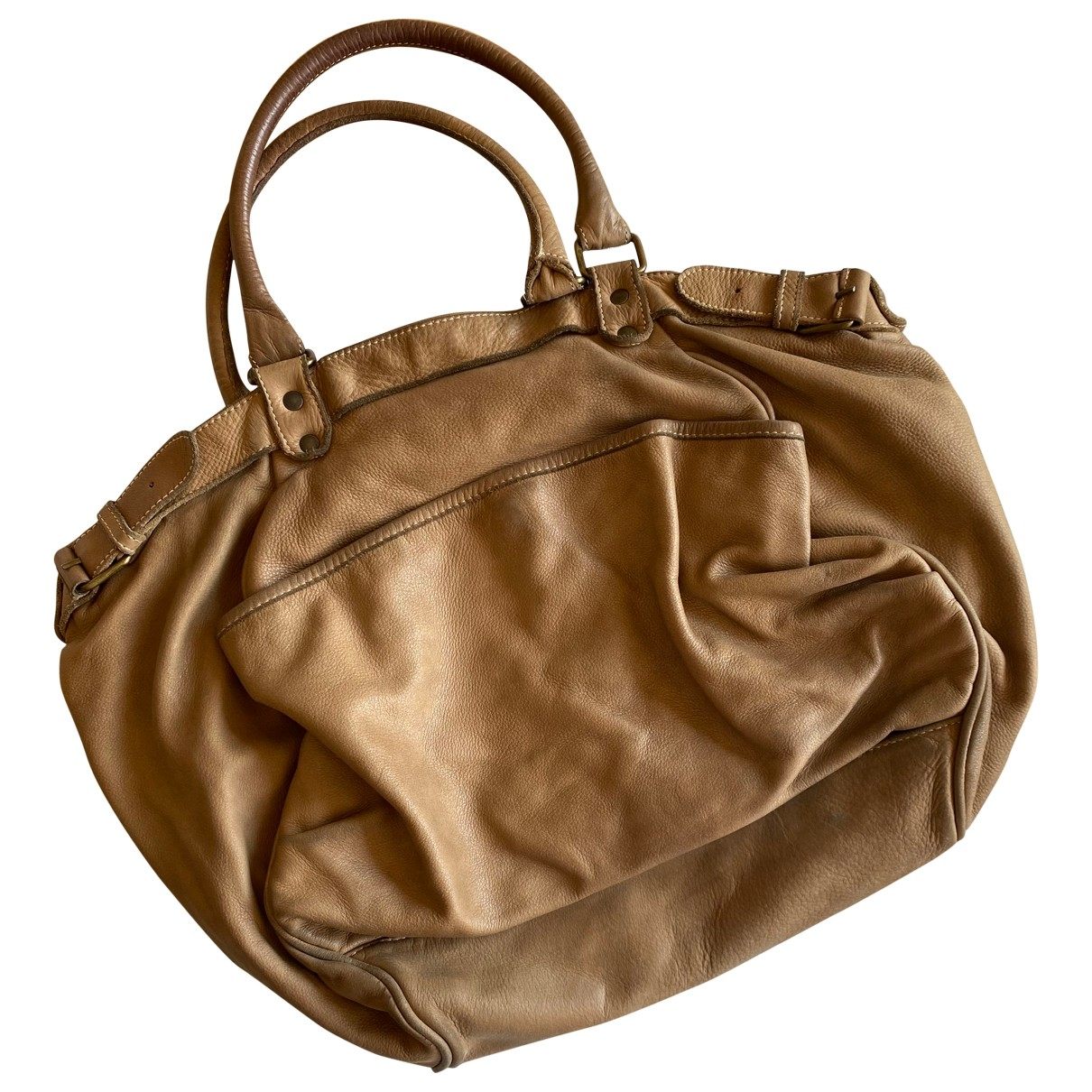 Vanessa Bruno Lune Beige Leather handbag for Women \N