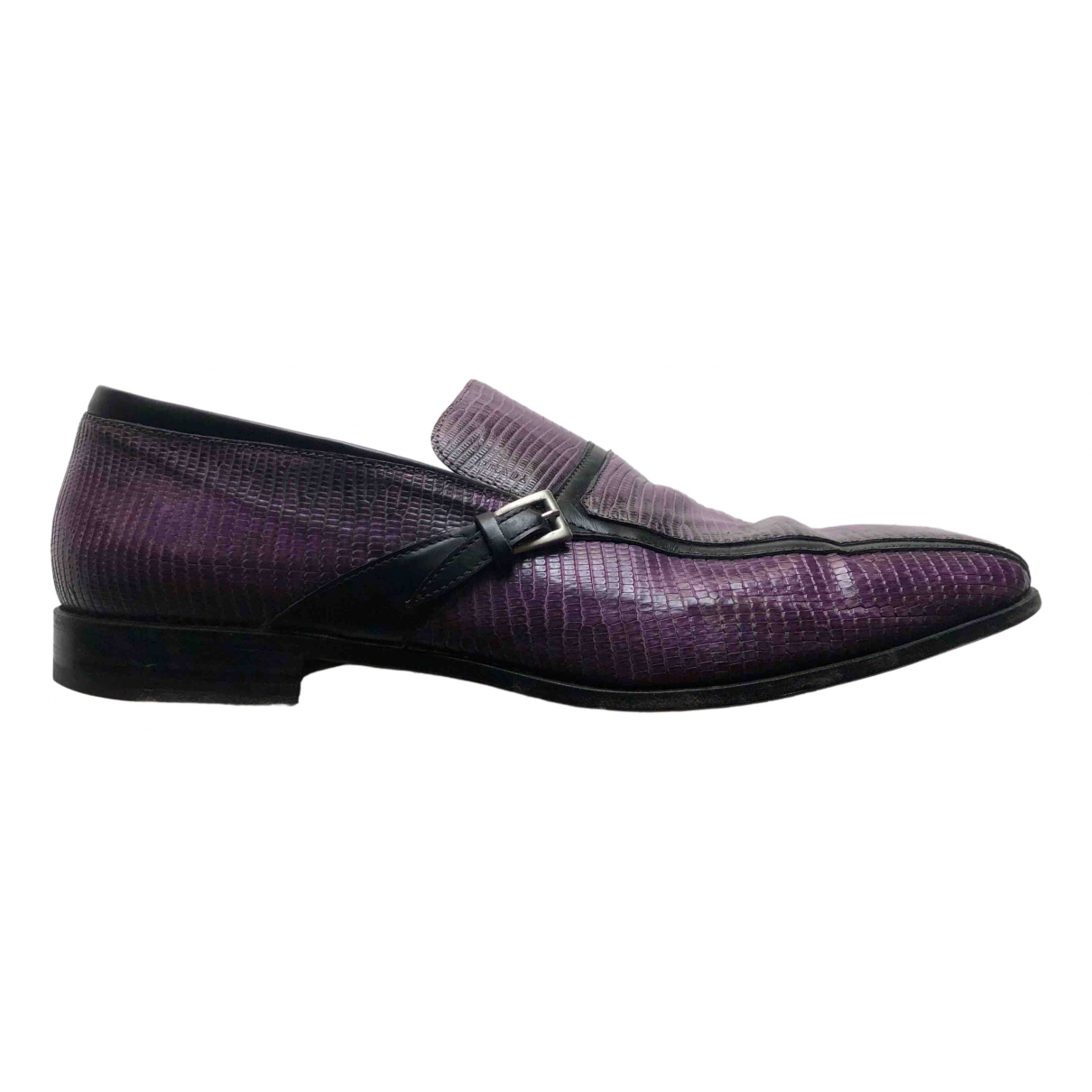 Prada \N Purple Lizard Flats for Men 10 US