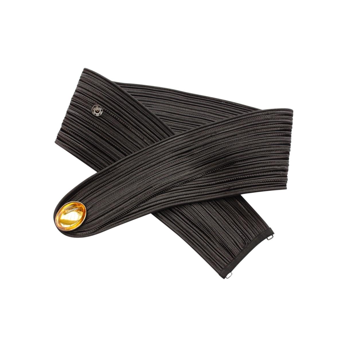 Yves Saint Laurent \N Black Cotton belt for Women 80 cm