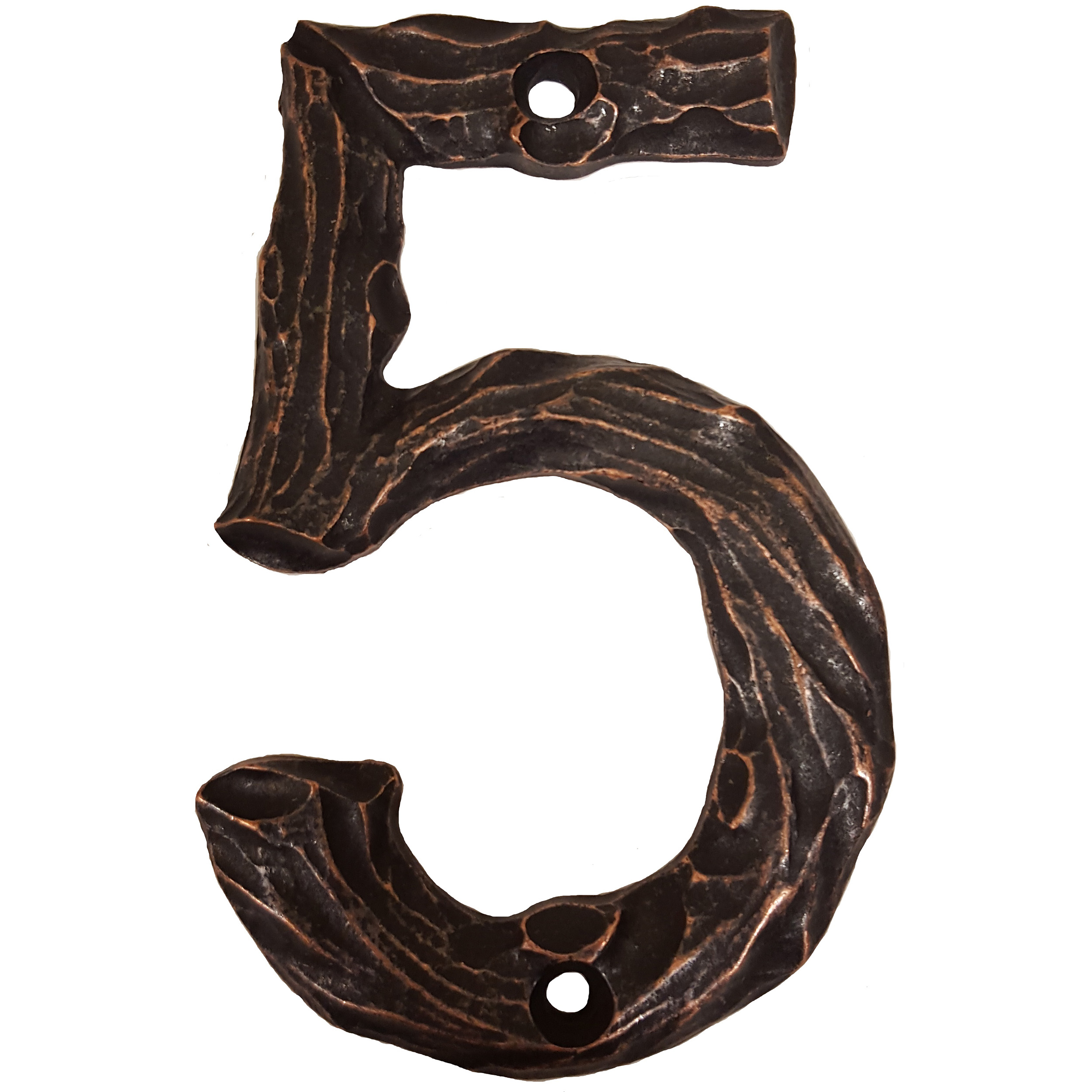 LHN5-ORB Log House Number 5, Oil Rubbed Bronze, 1 piece