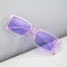 Maenner Sonnenbrille mit transparentem Rahmen
