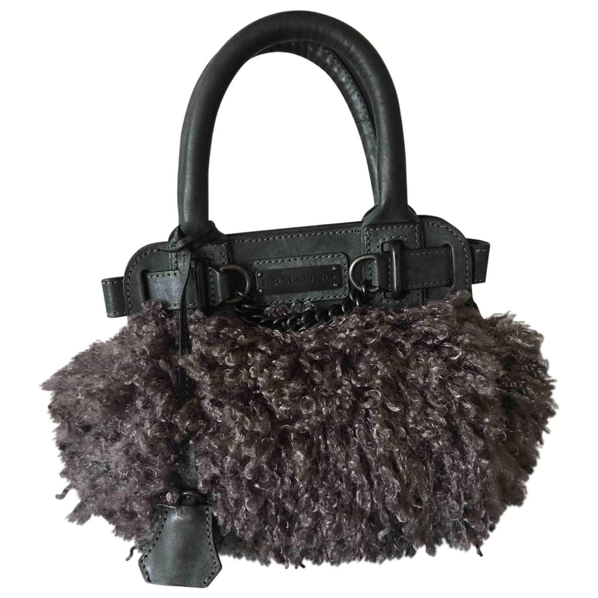 Ermanno Scervino \N Handtasche in  Grau Leder