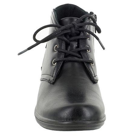 Easy Street Womens Debbie Block Heel Zip Bootie, 9 Medium, Black