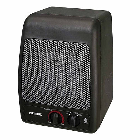 Portable Ceramic Heater, One Size , Black