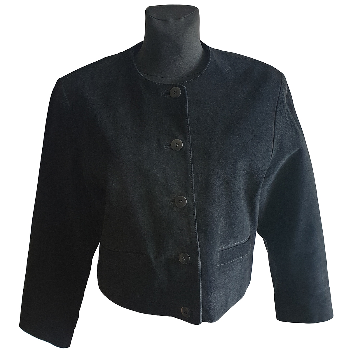 Non Signé / Unsigned \N Black Suede jacket for Women 40 FR