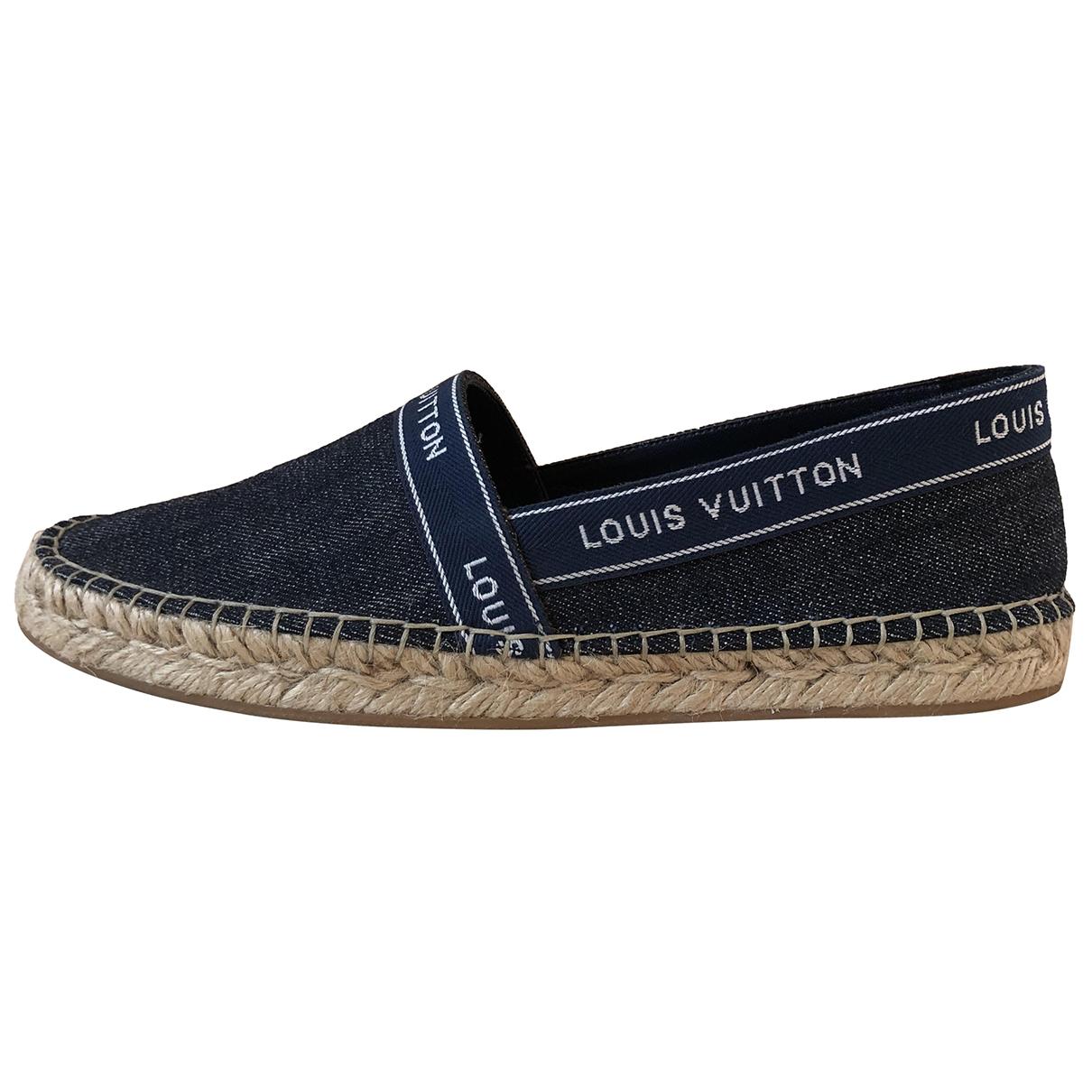 Louis Vuitton - Espadrilles   pour femme en toile - marine