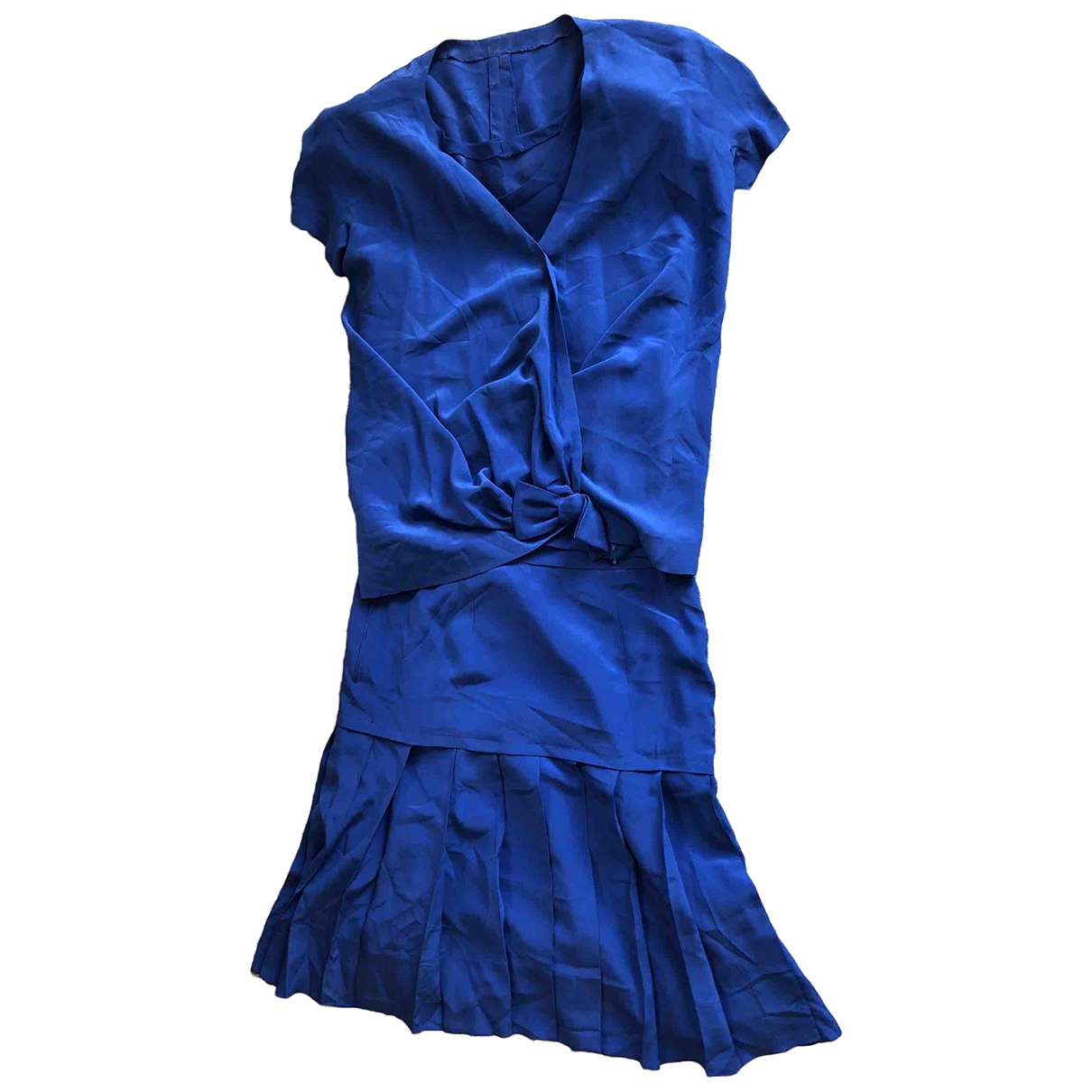 Non Signé / Unsigned \N Blue Silk dress for Women 44 IT