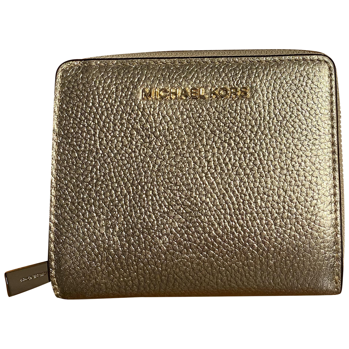 Michael Kors N Gold Leather wallet for Women N