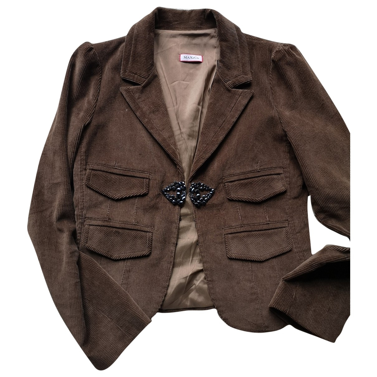 Max & Co \N Brown Cotton jacket for Women 42 IT