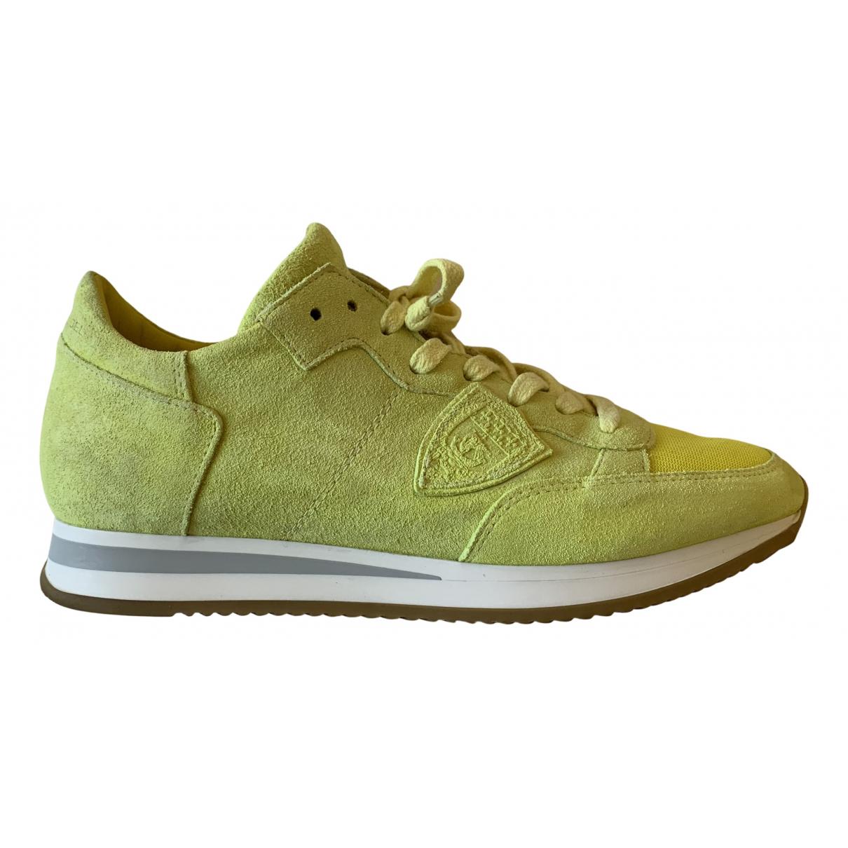 Philippe Model \N Sneakers in  Gelb Veloursleder