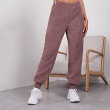 Teddy Lounge Hose mit elastischer Taille