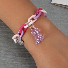 Armband mit Baeren Anhaenger