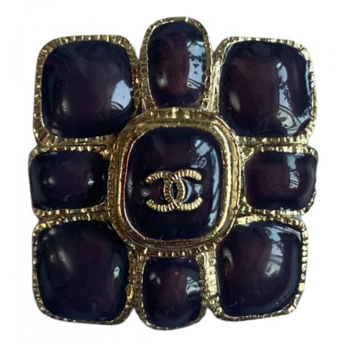 Chanel CC Purple Metal Pins & brooches for Women \N