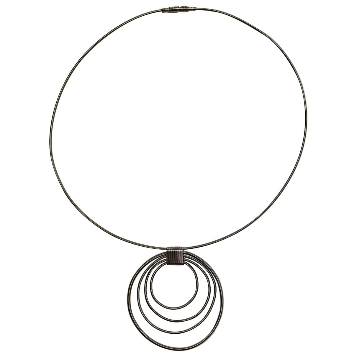 - Collier   pour femme en acier - gris